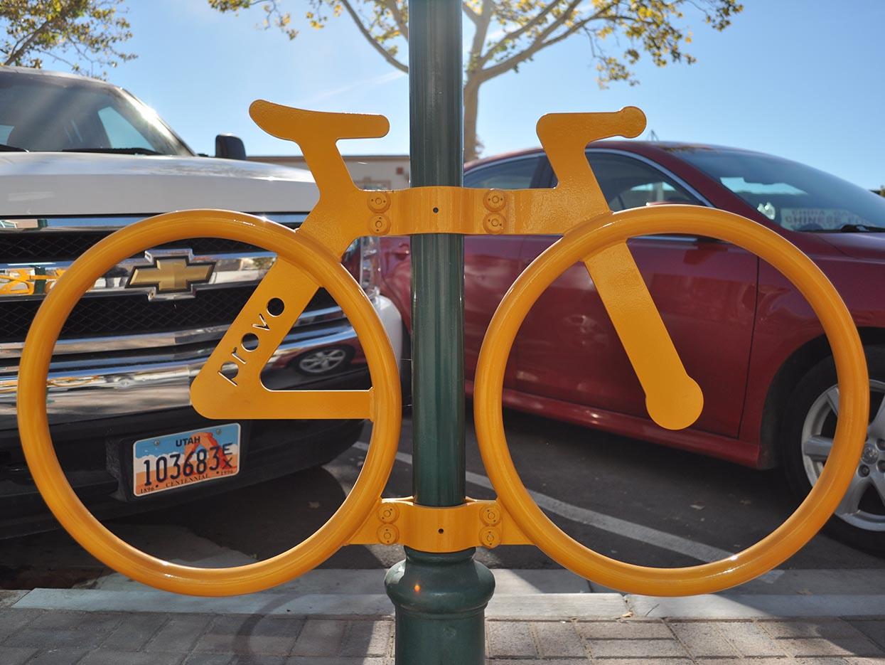 Rocketship + Provo City – Rock'en Bike Rack